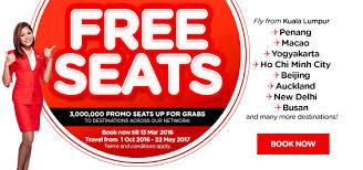 airasia singapore promo airasia free seats are back with 3 million promo seats up for grabs
