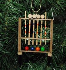 croquet game set christmas ornament ebay
