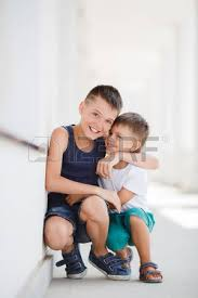chicos model short dark hair two schoolboys cute guys older and younger brother both dark