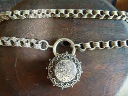 necklace ring clasp images Quintessential antique solid silver victorian book chain collar jpg