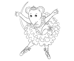 Angelina Ballerina Coloring Pages Getcoloringpages Com Ballerina Printable Coloring Pages