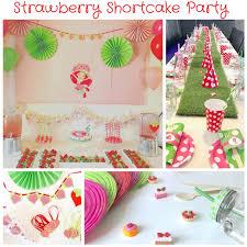 strawberry shortcake party supplies strawberry shortcake party the party ville party planner
