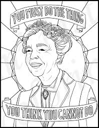 eleanor roosevelt portraits coloring pages for adults