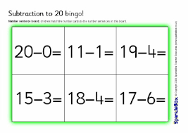 printable numeracy games year 1 primary school subtraction activities and games resources sparklebox