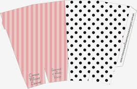 pink white and black stripes and polka dots free printable boxes