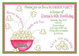slumber party invitationssleepover invitations popcorn