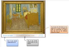 analyse du tableau la chambre de gogh cestfranc description d un lieu la chambre et la nuit étoilée de