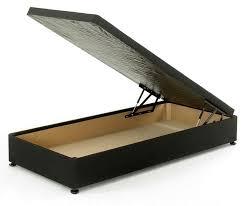 ottoman bed single 3ft single ottoman storage divan bed base black damask fabric