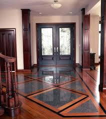 Hardwood Floor Borders Ideas Mixed Media Is A Wood And Tile Installed Togetherhardwood Floor