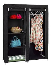 amazon com florida brands portable wardrobe closet with 4 shelves