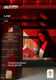 griffith university law undergraduate study guide 2018 by