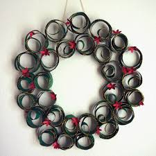 made by melis toilet paper roll christmas wreath