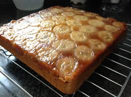 egg free upside down banana cake beesteas