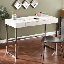 Desk Outlet Store Modern Beige Crocodile Look Writing Desk White Leather Luxury