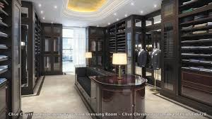 stunning clive christian walnut contemporary dressing room walk