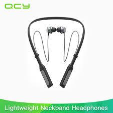 aliexpress qcy 2017 qcy bh1 bluetooth headphones wireless lightweight neckband