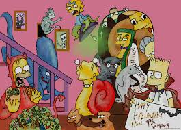 animated halloween desktop wallpaper wallpapers simpsons halloween widescreen wallpapers bizarre