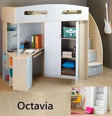 Bunk Bed Adelaide Octavia Single Cabin Bunk Bed Loft Desk Bookcase Cupboard Robe