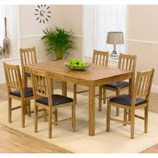 Dining Table And Six Chairs Promo Solid Oak Dining Table And 6 Promo Chairs 13513