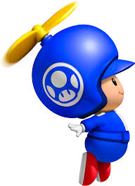 blue propeller toad toad pinterest