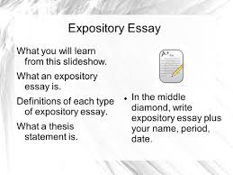 sample of a expository essay expository essay what you will learn from this slideshow what an 1 expository