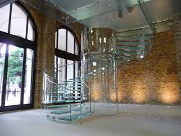 Glass Stair Banisters Stunning Transparent Glass For Contemporary Spiral Staircases