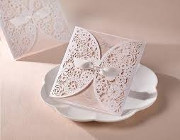 Design And Print Birthday Cards Openwork Lace Ribbon Wedding Invitation Greeting Cards Birthday