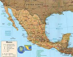 mexico america map america map
