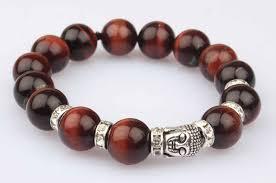 red bracelet with eye images Red tiger eye buddha bracelet rudraksha ratna jpg