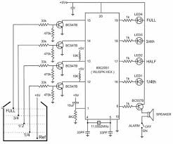 circuit diagram of water level indicator with voice alarm free