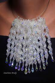 beaded icicles as christmas ornaments or jewelry the beading