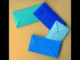 how to make an envelope without glue or tape gift wrap конверт