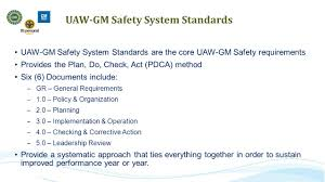 Operation Organization by Uaw Gm Safety System Site Leadership Awareness Training Planning