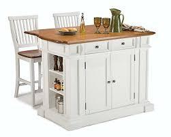 ilo de cuisine home styles îlot de cuisine avec 2 tabourets blanc home depot