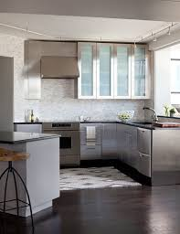 metal island kitchen frosted glass kitchen with metal island shiny bright white