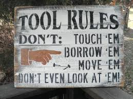 country home decor family rules wood sign tool rules funny