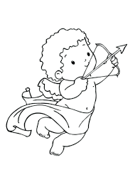 simple cupid coloring pages printable adorable valentine ca