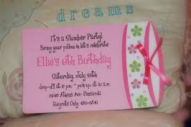 homemade slumber party invitations vertabox com