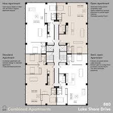 plan 880 lake shore drive architecture plans resi pinterest