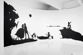 kara walker s thought provoking art wsj a detail from walker s seminal 1994 work gone an historical romance of a