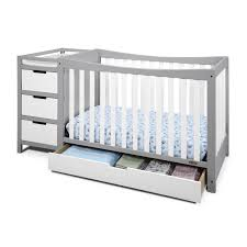 Convertible Cribs With Drawers Convertible Cribs Rustic Bedroom Storage Drawer Kalani 4in1