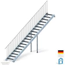 steinhaus treppen aussentreppe stahl 19 stufen für höhen bis max 380 cm steinhaus