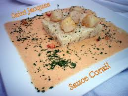 cuisiner corail jacques noix de jacques sauce corail dans vos assiettes