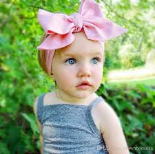 baby headwrap 2016 diy tie bow headband big bow dot print baby cotton