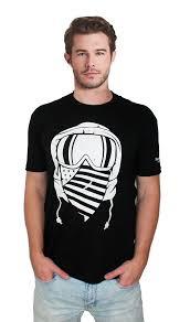 Black American Flag Bandana American Flag Bandana Snowboarding T Shirt Active Tees
