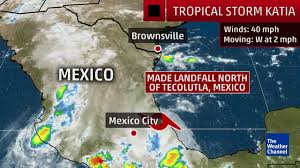 Mexico Weather Map by Katia Stalls Out Over Mexico The Weather Channel