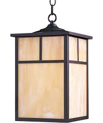 Outdoor Hanging Lights by Maxim Lighting 4058 Craftsman 9 Inch Wide 1 Light Outdoor Hanging