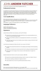 Resume Skills And Abilities Sample by Cv Sample With Language Skills Myperfectcv