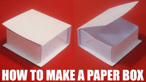 How To Make A Box With Paper - how to make a paper box with a lid that opens