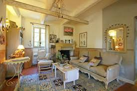 french country living room furniture and decoration home round